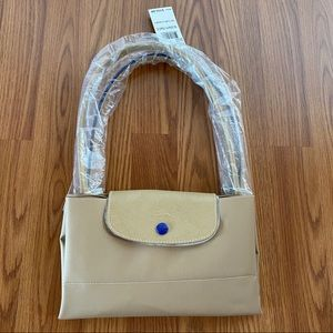 Longchamp Canvas Club Shoulder Tote Bag